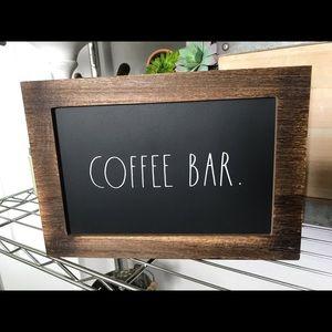 Rae Dunn Coffee Bar Sign NWT